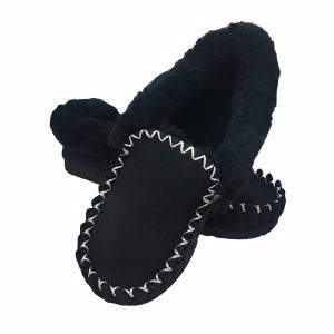 Sheepskin Moccasins Black