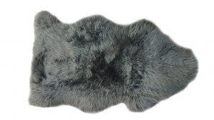 ANL Long Wool Rug charcoal
