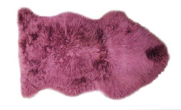 ANL Long Wool Rug plum
