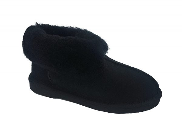 Uggies Slipper black rolled