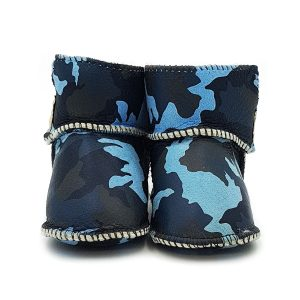 Imosh Baby Booties blue camo