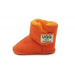 Imosh Baby Booties orange side