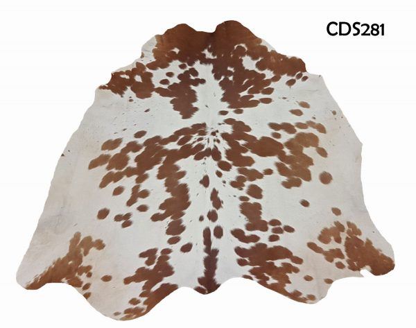 Brown and White Stockmans Cow Hides CDS281