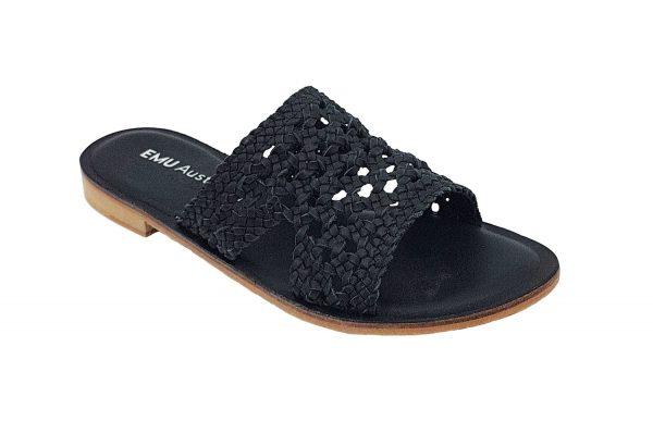 emu australia kadina sandal black side view