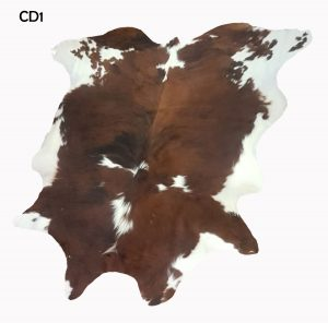 Large Brown and White Cow Hide CD1