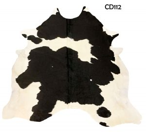 Large Black and White Cow Hide