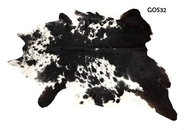 Large Black and White Cow Hide GOS 32