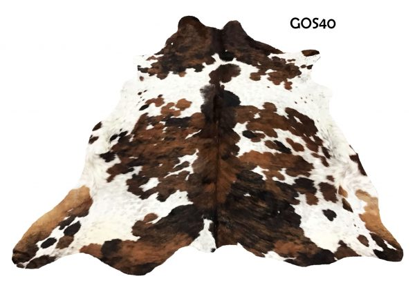 Large Brown and White Cow Hide GOS40