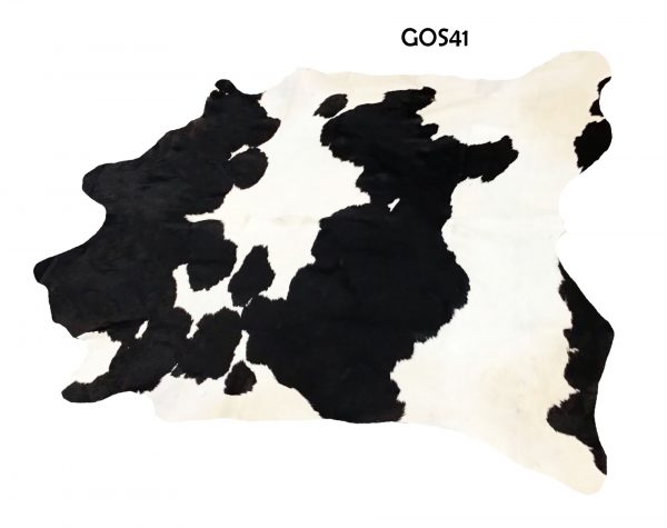 Large Black and White Cow Hide GOS41