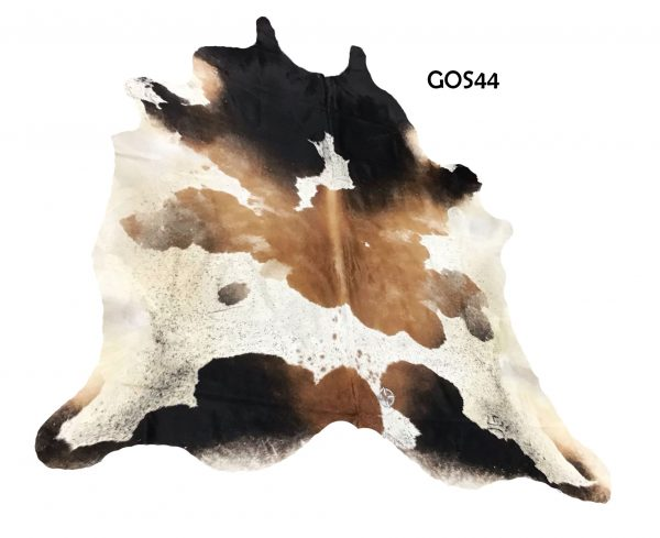 Large Brown and White Cow Hide GOS44