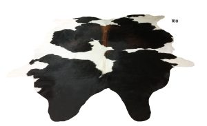 Large Black and White Cowhide