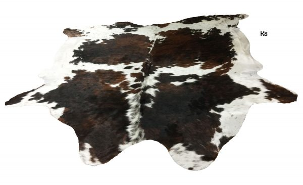 Large Brown and White Cow Hide K8