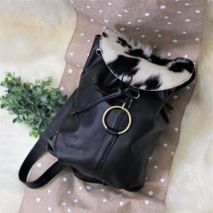 Cowhide Backpack black