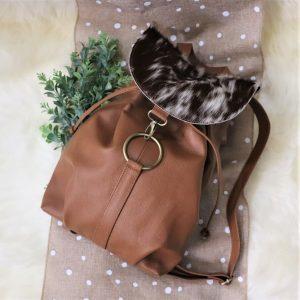 Cowhide Backpack tan