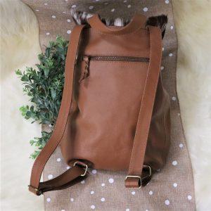 Cowhide Backpack back view